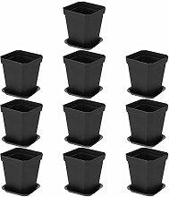 Hemoton 10 Pièces en Plastique Planteur Pot avec