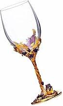 HEMOTON 1PC Vin Gobelet Transparent Cristal