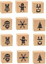 HEMOTON 50 Pcs De Noël Cookie Cadeau Boîtes