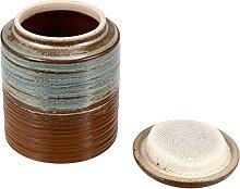 HEMOTON Boîte à thé vintage en céramique avec