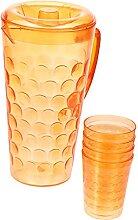 HEMOTON Carafe à eau avec 4 tasses, carafe à