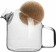 HEMOTON Carafes Carafes - Théière en verre avec