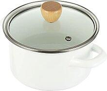 Hemoton Céramique Émail Ragoût Pot avec