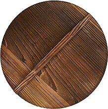 Hemoton Couvercle en bois Wok pour conteneurs