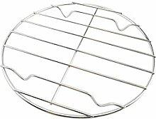 Hemoton Grille de cuisson ronde en acier