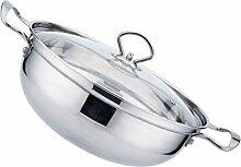 Hemoton Hot Pot Marmite de Cuisson Soupe Pot en