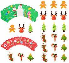 Hemoton Lot de 48 décorations et enveloppes pour