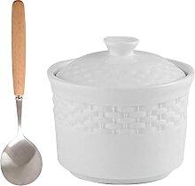 Hemoton Petite Céramique Ragoût Pot Soupe Miso
