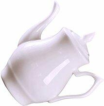 Hemoton Petite théière en porcelaine -