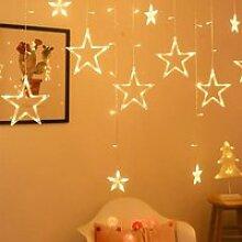 HENGDA 12 Étoiles Lumières de Rideaux, Rideau