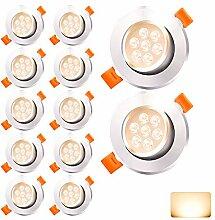 Hengda Spots Ronds LED Encastrables 12 x 7W