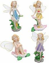 HERCHR 4 pièces Statue d'elfe de Jardin de