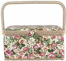 HERCHR Panier à Couture imprimé Floral, boîte