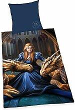 Anne Stokes linge de lit Moonlight Licorne 2 pièces 135//200 Digital Pression Fantasy NEUF