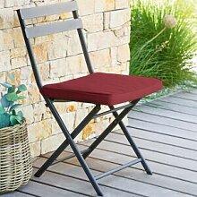 Hespéride Galette de chaise carrée Bordeaux