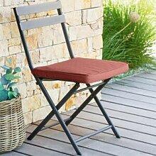 Hespéride Galette de chaise carrée Terracotta