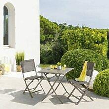 Hespéride Table de jardin pliante carrée Azua