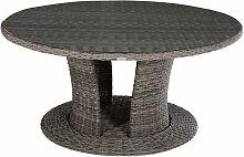 Hesperide - Table de jardin résine tressée