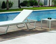 Hevea - Bain de soleil en aluminium Elios - Blanc