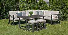 Hevea Salon de Jardin avec Sofa en Aluminium Bolon