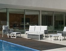 Hevea - Salon de jardin détente en aluminium