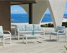 Hevea - Salon de jardin en aluminium 5 places Amza
