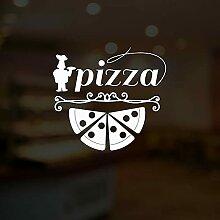 HGFDHG Lettre Logo Sticker Mural Pizza Italien