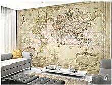 HGFHGD 3D Murale Murale Carte Du Monde Papier