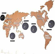 HGJDKSJ Horloge Murale Créative de Carte du Monde