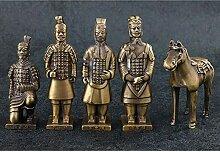 HGNMK Lot de 5 statues et figurines Qin Shihuang