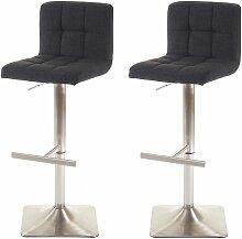HHG - 2x tabouret de bar Kavala, chaise