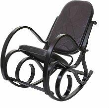 HHG - Fauteuil à bascule M41, fauteuil TV, bois