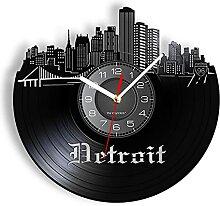 hhhjjj Horloges murales en Vinyle, fuseaux