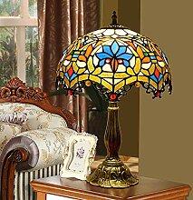 HHKQ Lampe de Table Tiffany, Baroque Européenne