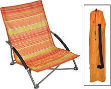 HI Chaise de plage pliable Orange 65x55x25/65 cm