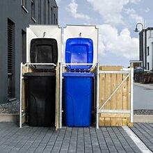 Hide Cache-poubelle 2 compartiments Müllbox en