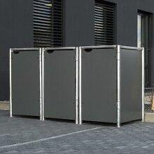 Hide Cache-poubelle 3 compartiments Müllbox en