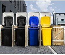 Hide Cache-poubelle 4 compartiments Müllbox en