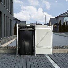 Hide Cache-poubelle Müllbox en aluminium gris