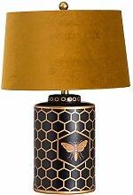 Hill 1975 Harlow Bee Lampe de Table avec Abat-Jour