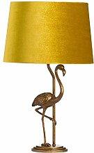 Hill 1975 Lampe flamant rose doré antique avec