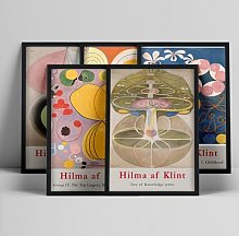 Hilma af klin – affiche d'art abstrait,
