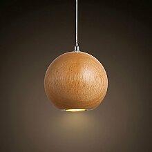 Hines Creative Unique Tête En Bois Boule LED