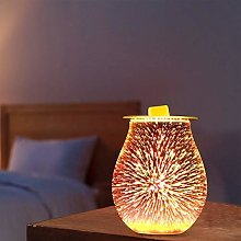 HITECHLIFE Lampe aromatique en Verre 3D Effet feu