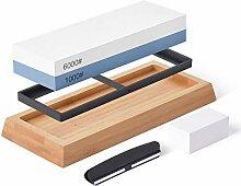 Hivexagon Kit de pierre à aiguiser Couteau à
