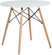 HJ Blanc Ronde Table en Table de Salle à Manger