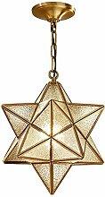 HJW Crystal Star Pendant Light Montage de Verre
