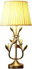 HJW Lampe de Table de Nuit de Nuit, Métal + Tissu