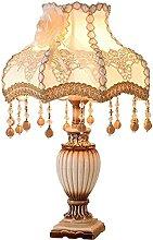 HJW Lampe de Table de Nuit de Nuit Vintage Blanc