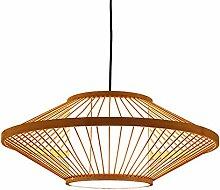 HJW Pendentif En Bambou Diy Lustre Luminaire